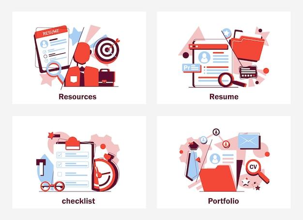 Concepto de contratación de recursos humanos para banner de página web