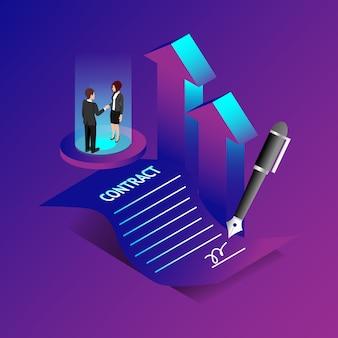 Concepto de contrato y acuerdo.