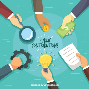 Concepto de contribución pública