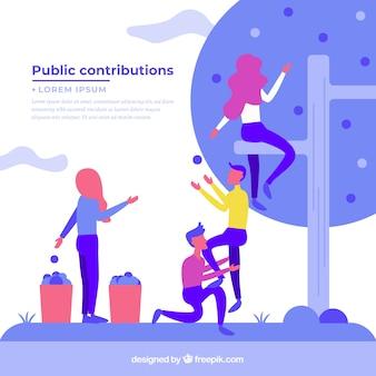 Concepto de contribuciones públicas