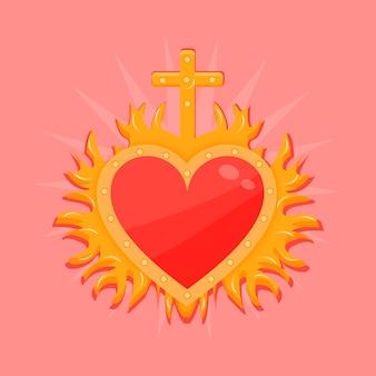 Concepto de corazón sagrado rojo