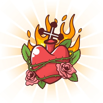 Concepto de corazón sagrado