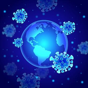 Concepto de coronavirus de estilo globo