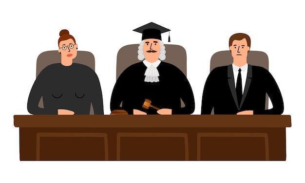 Concepto de la corte de jueces