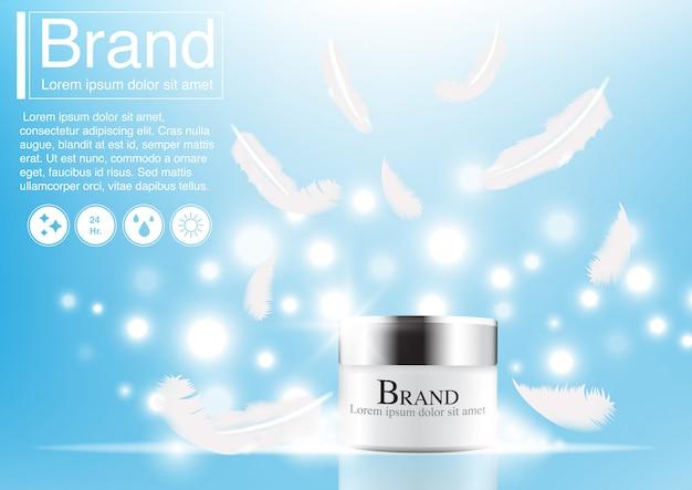 Concepto cosmético de la pluma del anuncio