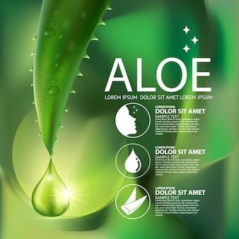 Concepto de cosméticos de aloe vera