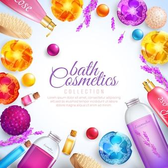 Concepto de cosméticos de baño