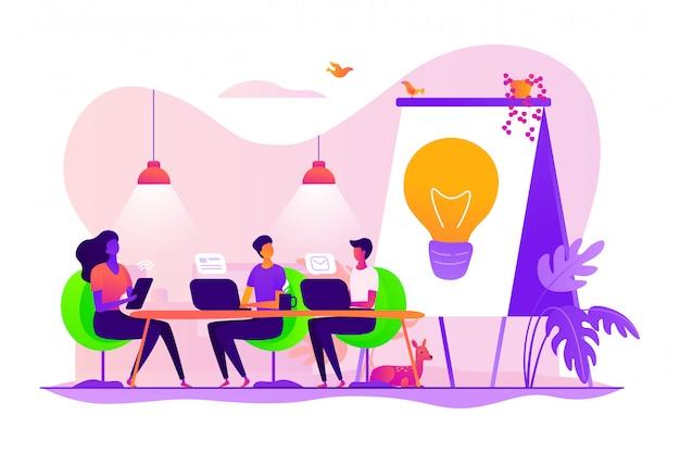 Concepto de coworking.