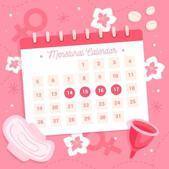 Concepto creativo de calendario menstrual