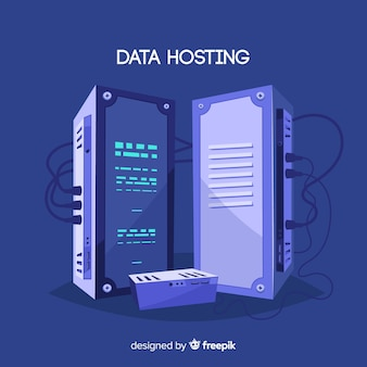 Concepto creativo de data hosting