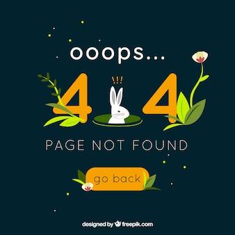 Concepto creativo de error 404