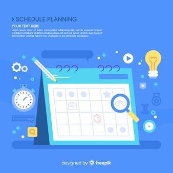 Concepto creativo de horario de planificación