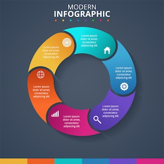 Concepto creativo para infografía. ilustración vectorial