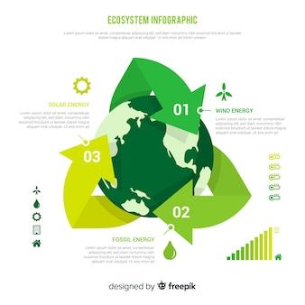 Concepto creativo de infográfica del ecosistema