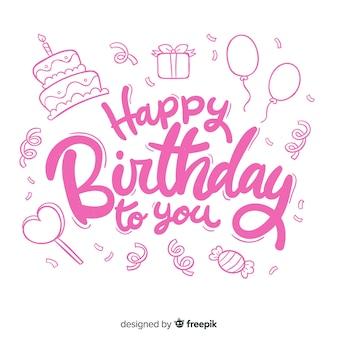 Concepto creativo de letras feliz cumpleaños