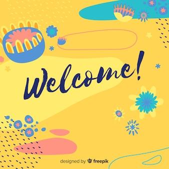 Concepto creativo de lettering de welcome