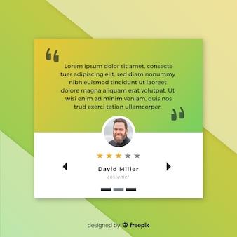 Concepto creativo de testimonial web