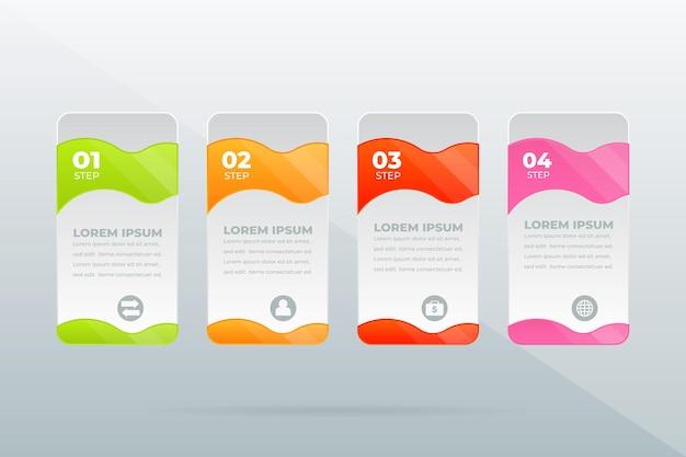 Concepto creativo para la visualización de datos empresariales infográficos
