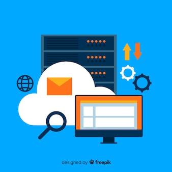 Concepto creativo de web hosting
