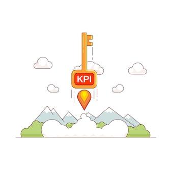 Concepto de crecimiento de kpi