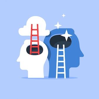 Concepto de crecimiento de mentalidad