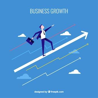 Concepto de crecimiento de negocios