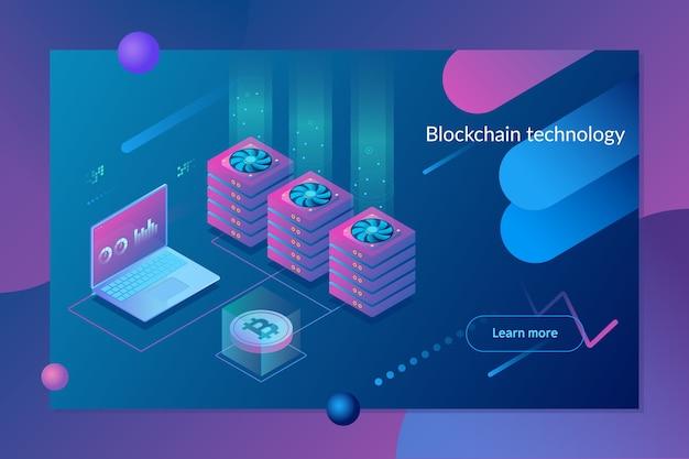 Concepto de criptomoneda y blockchain