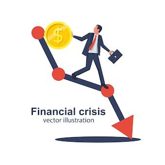 Concepto de crisis financiera