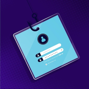 Concepto de cuenta de phishing