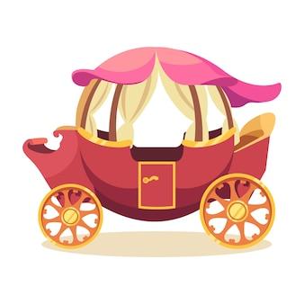 Concepto de cuento de hadas de carro mágico