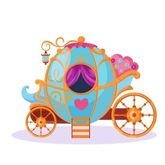 Concepto de cuento de hadas con carro mágico
