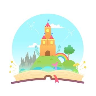 Concepto de cuento de hadas y libro