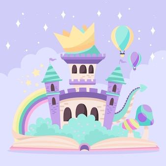 Concepto de cuento de hadas mágico