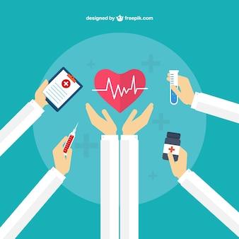 Concepto de cuidado médico