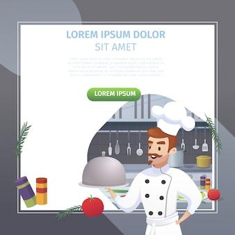 Concepto culinario ilustración restaurante de negocios