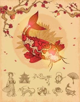 Concepto de cultura asiática