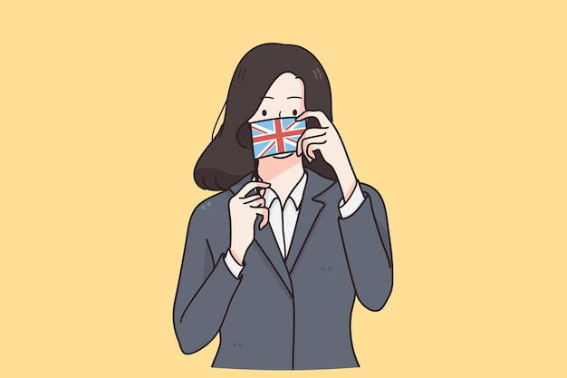 Concepto de cultura y bandera inglesa