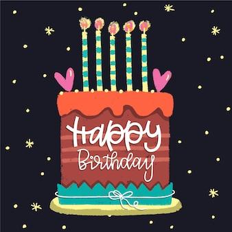 Concepto de cumpleaños con letras