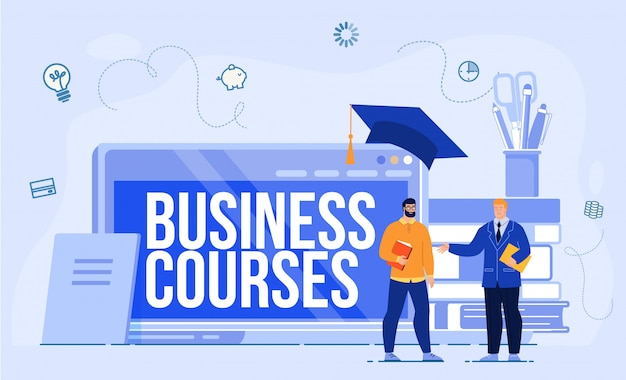 Concepto de cursos de internet business school