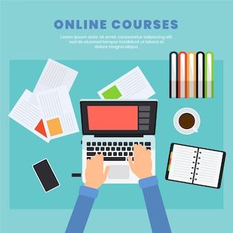 Concepto de cursos en línea
