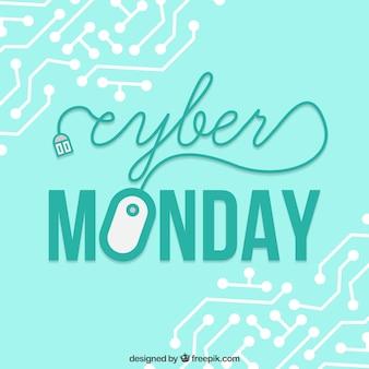 Concepto de cyber monday con ratón