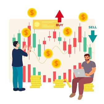 Concepto de datos de bolsa