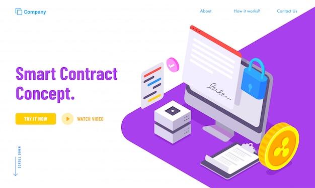 Concepto de datos de contrato seguro para smart contract