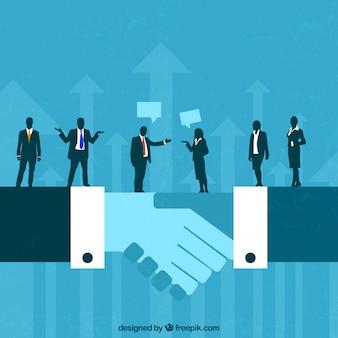 Concepto de acuerdo de negocios