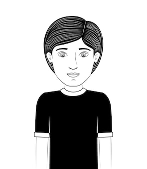 Concepto de adolescentes con diseño de bosquejo de personas