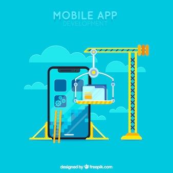 Concepto de aplicación móvil para una página de destino