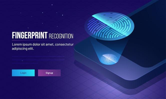 Concepto de autenticación biométrica.