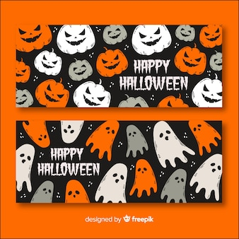 Concepto de banners de halloween