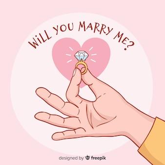 Concepto de boda y amor