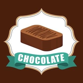 Concepto de chocolate con diseño de icono